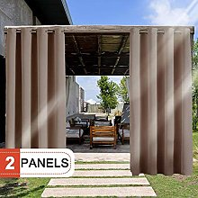 RHF Outdoor Blackout Curtains, 2 Panels Patio