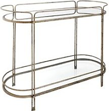 Rhianna Mirrored Glass Console Table With Gold And