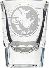 Rhino Round Shot Measuring Glass, Every 2oz Lined