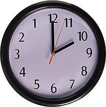 Rhode Island Novelty Backwards Wall Clock, Black,