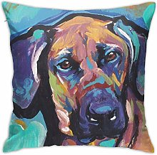 Rhodesian Ridgeback Bright Colorful Pop Dog Art