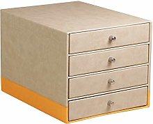 Rhodia Leatherette Desk Storage Organiser - Beige