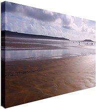 Rhossili beach bay Gower Wales 40x30 inches  