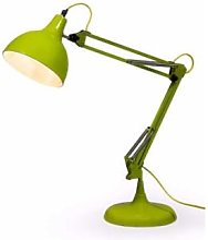 Rhubarb - Lime Green Retro Adjustable Desk Lamp