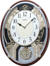 Rhythm Clocks Motion Clock, Silver