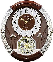 Rhythm Clocks Musical Motion Clock, Brown