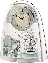 Rhythm Cont Mantel Clock Arched Top/Sprial