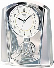 Rhythm Contemporary Mantel Clock Chrome Colour