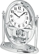 RHYTHM Crystal Pendulum Mantel Clock