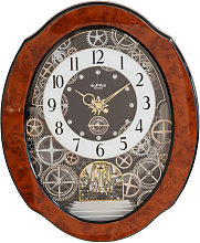 Rhythm Magic Motion Cogs Clock - Crystals from