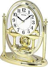 RHYTHM Mantel Clock with Moving Crystal Effect
