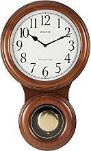 RHYTHM Modern Large Wooden Pendulum Wall Clock
