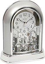 Rhythm Silver Arch Mantel Clock