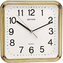 RHYTHM Square Basic Wall Clock with Silent