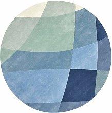 Rhythmic Tides Indigo Round Rug - 200 cm diameter