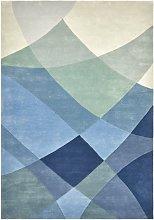 Rhythmic Tides Indigo Rug - 170 x 240 cm / Blue /