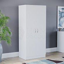 Riano 2 Door Wardrobe, White