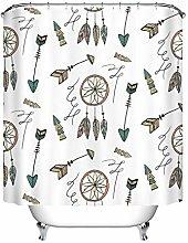ribal Bohemia Feather Arrow Waterproof Fabric Bath