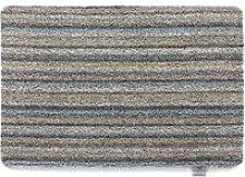 Ribbon Grey Candy Stripe Mat - 50 x 75cm
