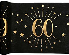RIBBON WRITER Black/gold metallic 60th Birthday