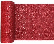 RIBBON WRITER Red Ultra glitter polyester table