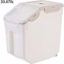 Rice Airtight Storage Bin Dispenser with Wheels