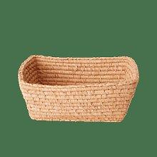 rice - Apricot Rectangular Raffia Bread Basket
