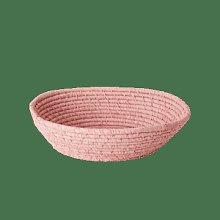 rice - Large Soft Pink Round Raffia Bread Basket