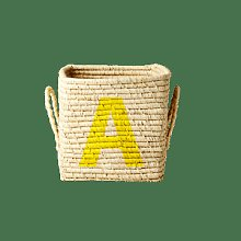rice - Painted Letter A Small Square Raffia