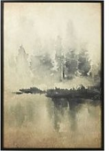 Rice Paper Wall Art with Landscape Print 90x130