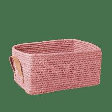 rice - Rectangular Raffia Basket Soft Pink