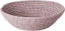 rice - Small Lavender Round Raffia Bread Basket