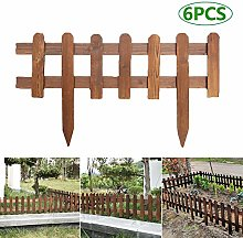 Rich-home Set of 6 Wooden Picket Garden Picket