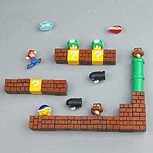 RichAmazon 63pcs 3D Super Mario Bros. Fridge