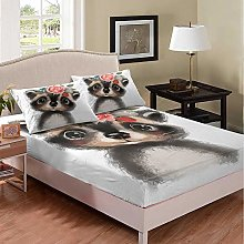 richhome Cute Bed Sheet Kids Boys Girls King Black