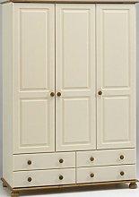 Richmond Steens Cream & Pine 3 Door 4 Drawer
