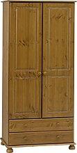 Richmond Steens Solid Pine 2 Drawer 2 Door Wardrobe