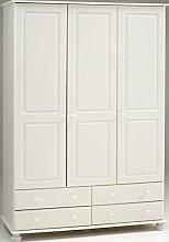 Richmond Steens White 3 Door 4 Drawer Triple