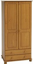 Richmond Tall Wardrobe In Pine With 2 Doors And 2