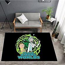 Rick And Morty Cartoon Children'S Carpet Anime