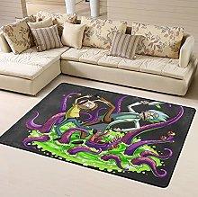 Rick Morty Area Rug Floor Rugs Living Room Bedroom