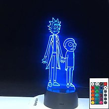 Rick Rick Cartoon Crazy Doctor Morty 3D LED Night