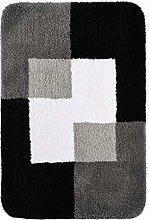 RIDDER Bath Rug, Bathroom Carpet, Polyester, Grey,