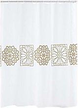 RIDDER Shower Curtain, Polyester, Beige, 180x200 cm