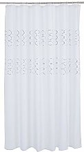 Ridder Shower Curtain, Polyester, White Gold,