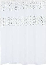 RIDDER Shower Curtain, Polyester, White Gold,