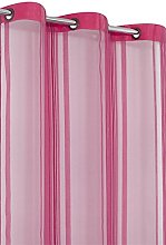 RideauDiscount Sheer Eyelet Curtain 140x240 cm