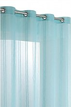 RideauDiscount Striped Net Curtain with 8 Eyelets