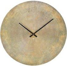 Ridged Brass Metal Clock D74