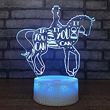 Riding Source 3D Lights Led Bedroom Creative Night